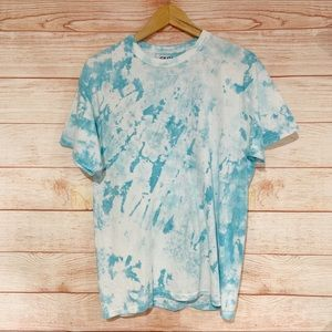 Blue and White Tie Dye Tee